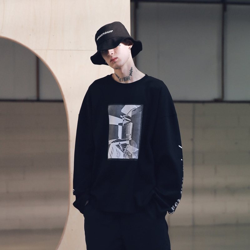SB HATCHET OVERSIZED LONG SLEEVE MSNLS001-BK