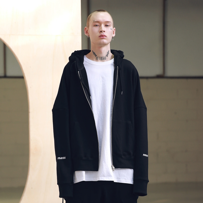 REFLECTIVE LINE TECH HOOD ZIP-UP MSNZP001-BK