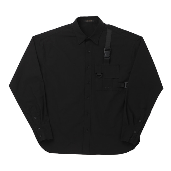 POCKET TECH WEAR OVER SHIRT BLACK