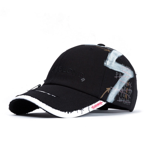 BBD SOLID OXFORD 7 SINS GRAFFITI CAP BLACK