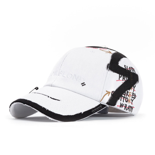 BBD SOLID OXFORD 7 SINS GRAFFITI CAP WHITE