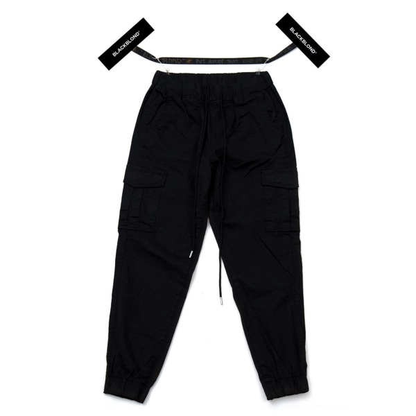 BBD BASIC CARGO JOGGER PANTS BLACK