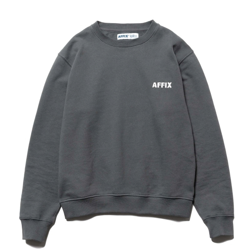CHEST EMBROIDERY CREWNECK UTILITY GRAY