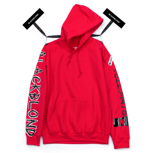 BBD GRAFFITI NUMBER HOODIE RED