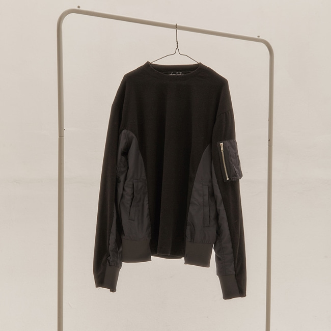 UNBALANCE FLEECE CREWNECK BLACK
