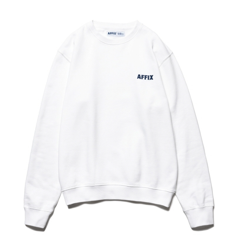 CHEST EMBROIDERY CREWNECK WHITE