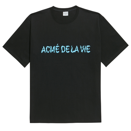 ADLV NEON LOGO SHORT SLEEVE BLACK BLUE
