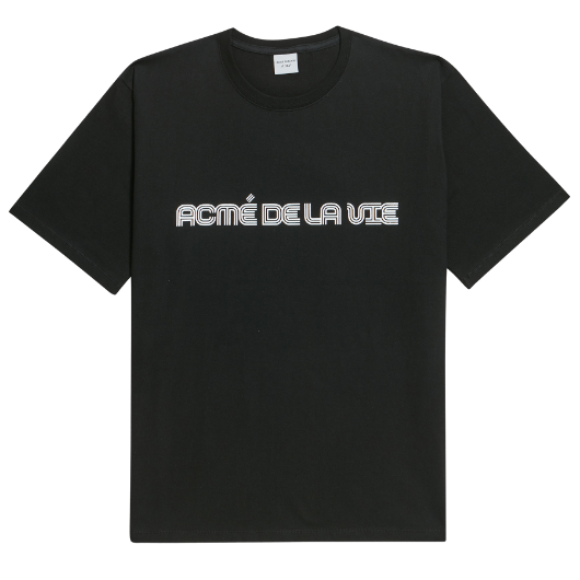 ADLV 3 LINE LOGO SHORT SLEEVE BLACK