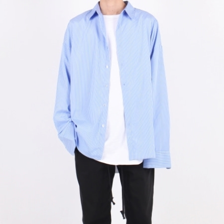 OVERFIT SHIRT SKY BLUE STRIPE