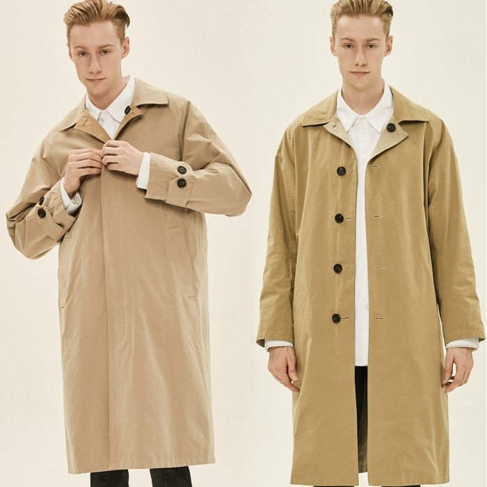 BEIGE REVERSIBLE MAC COAT