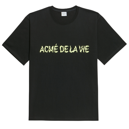 ADLV NEON LOGO SHORT SLEEVE BLACK YELLOW