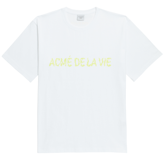 ADLV NEON LOGO SHORT SLEEVE WHITE YELLOW