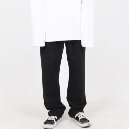OVERFIT WIDE PANTS DIRTY BLACK