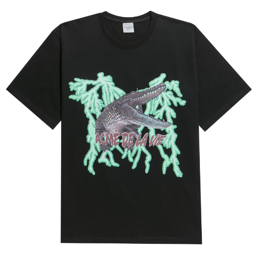 ADLV CROCODILE CMYK SHORT SLEEVE T-SHIRT BLACK