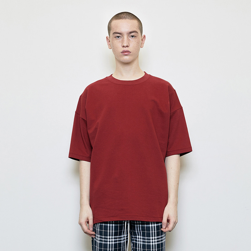 OVERSIZED BASIC T-SHIRT (RED)