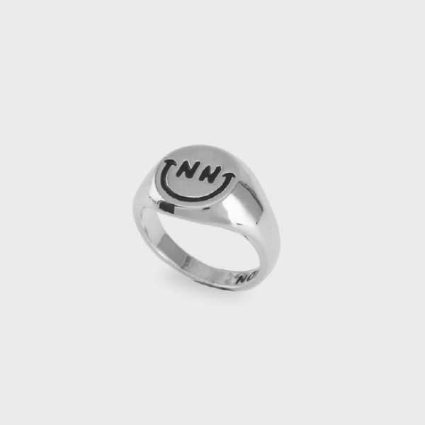 BLACK SMILE RING