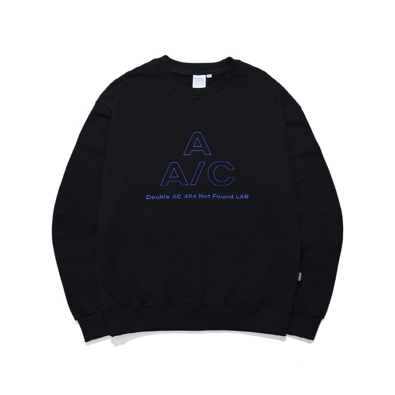 EMBROIDERED LOGO CREWNECK BLACK