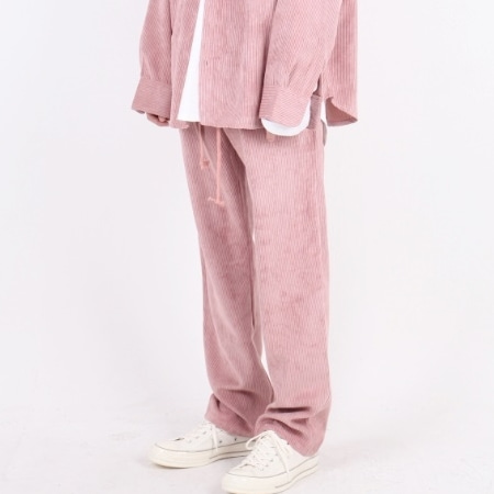 OVERFIT CORDUROY PANTS INDY PINK