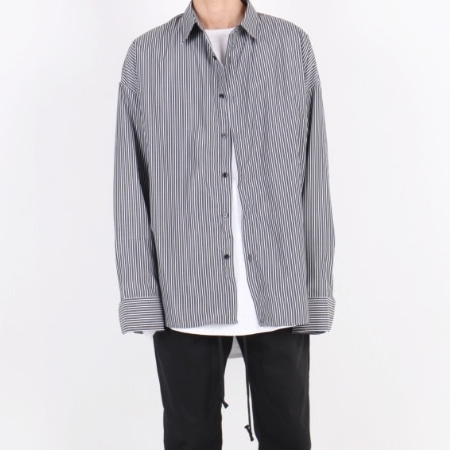 OVERFIT SHIRT BLACK STRIPE
