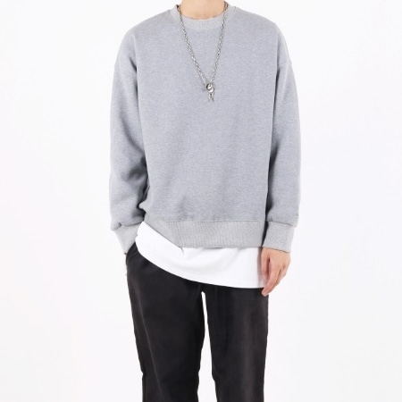 BASIC OVERFIT SWEATSHIRT GREY