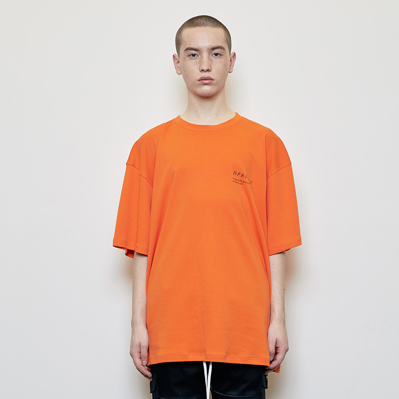OVERSIZED VISIBLE T-SHIRT (ORANGE)
