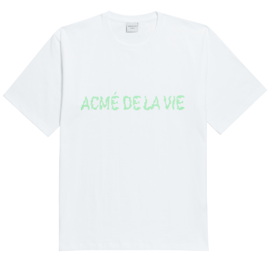 ADLV NEON LOGO SHORT SLEEVE WHITE GREEN