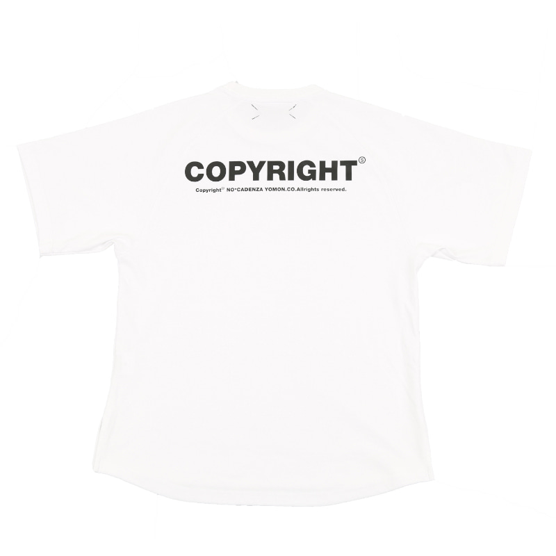 COPYRIGHT T-SHIRT WHITE