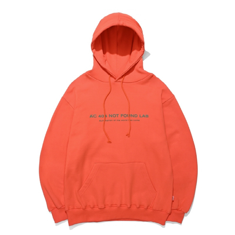 404 NOT FOUND HOODIE ORANGE