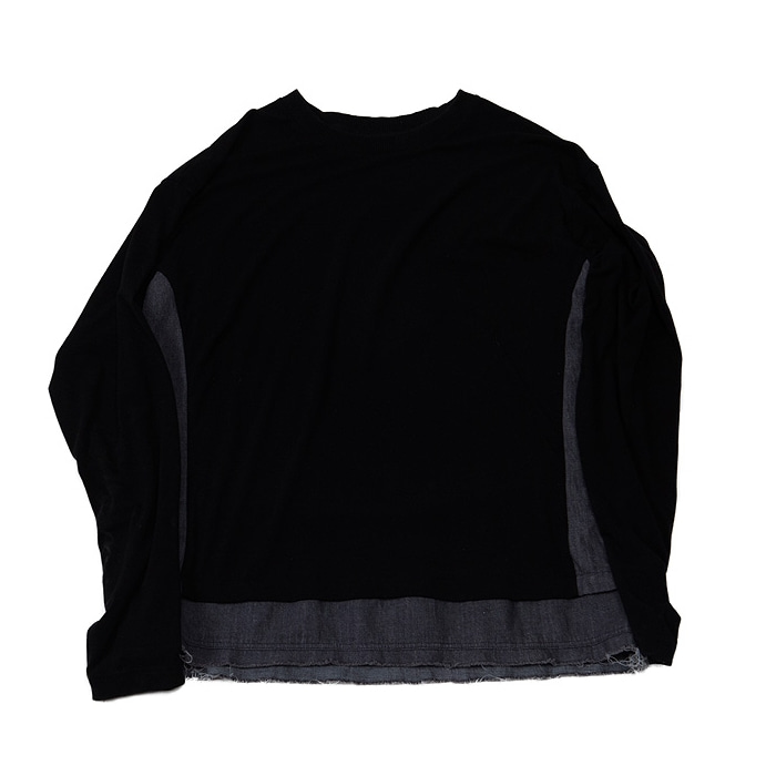 DENIM MIXED SLEEVE BLACK