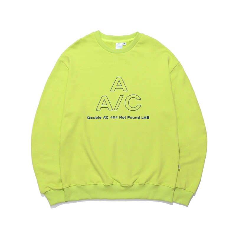 EMBROIDERED LOGO CREWNECK NEON