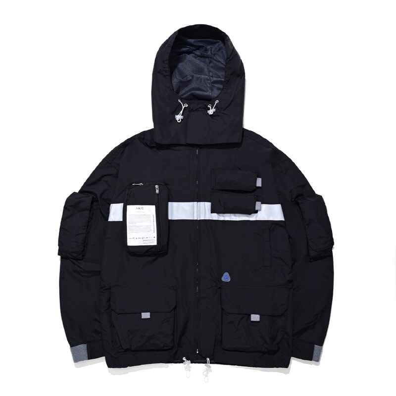 9-POCKET SMOCK JACKET BLACK
