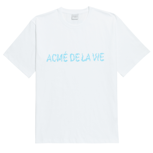 ADLV NEON LOGO SHORT SLEEVE WHITE BLUE