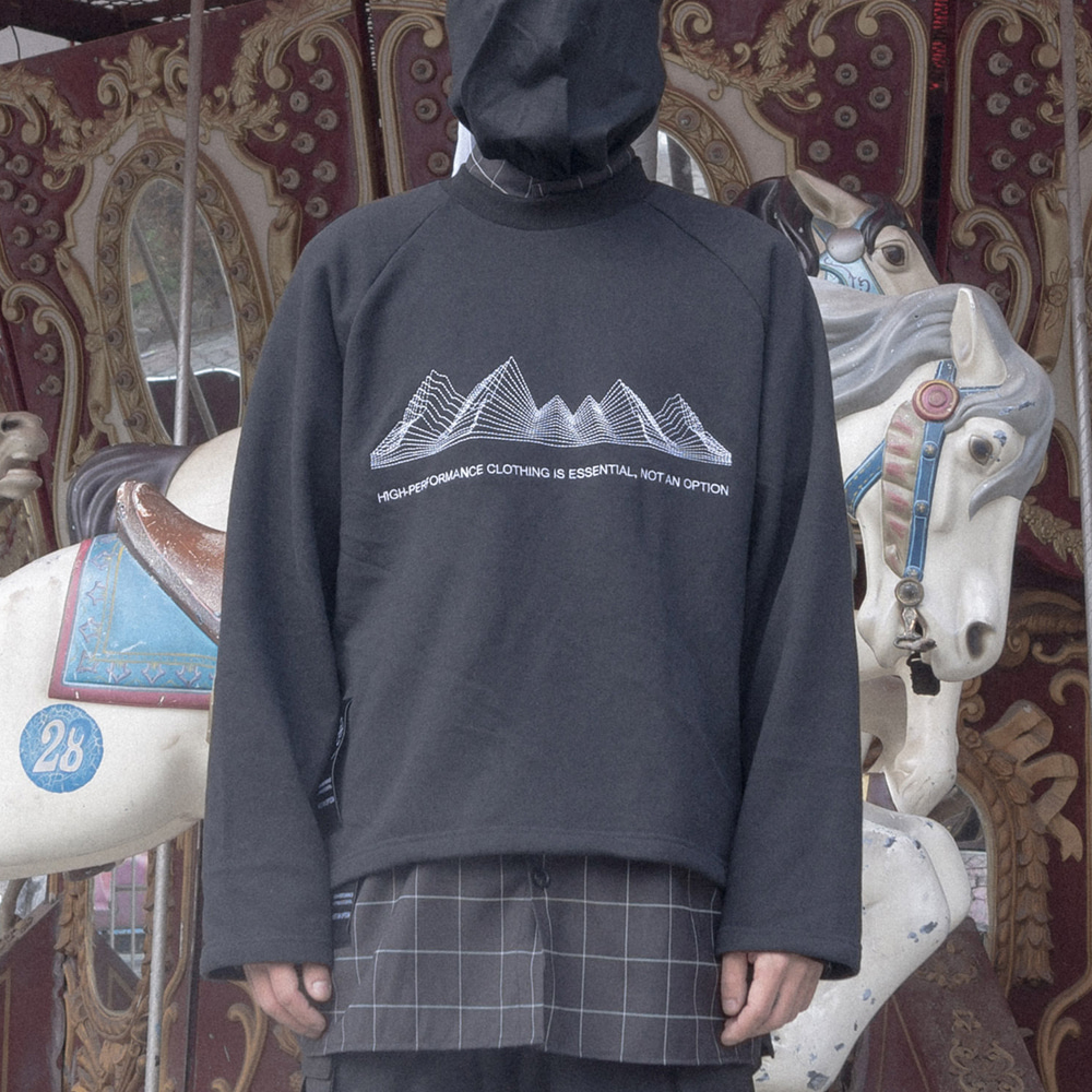 TECHNICAL X GEOMETRY SWEAT SHIRT