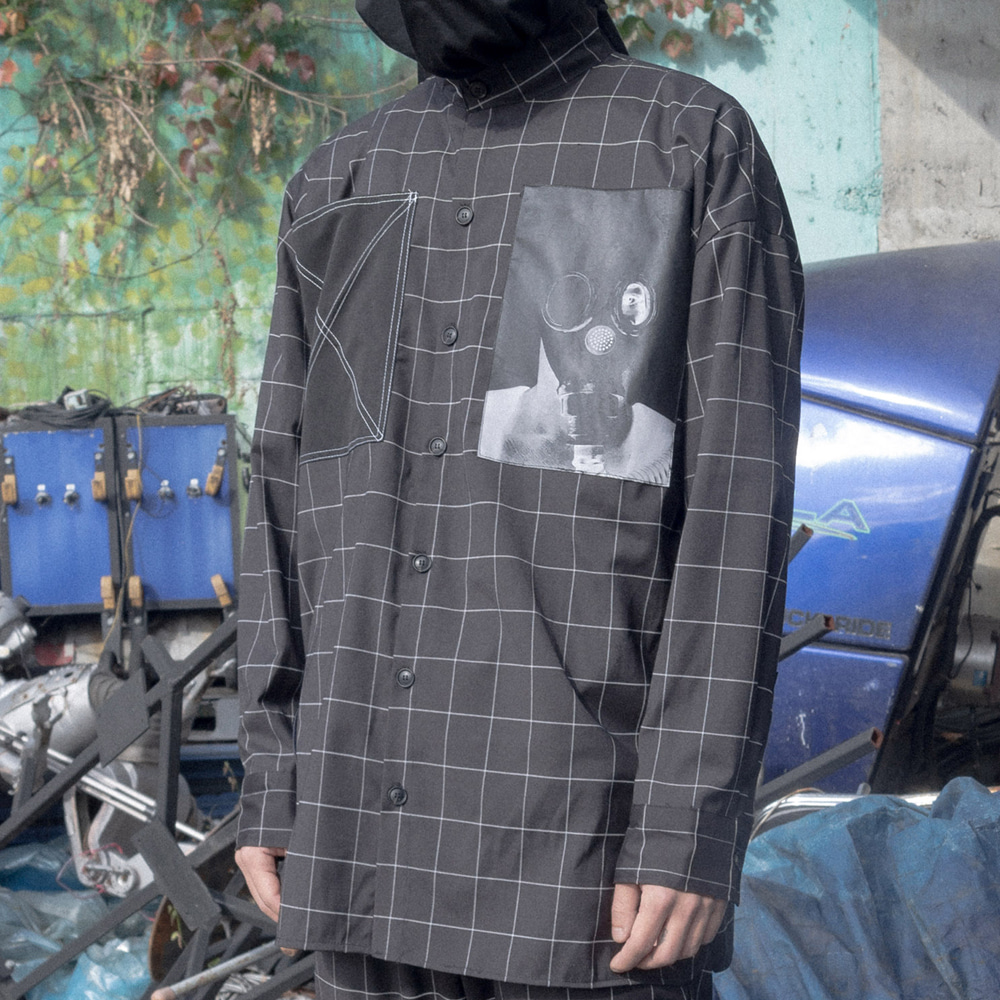 TECHNICAL X WINDOWPANE SHIRT