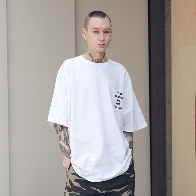 SCRATCH OVERSIZED T-SHIRTS MSNTS002-WT