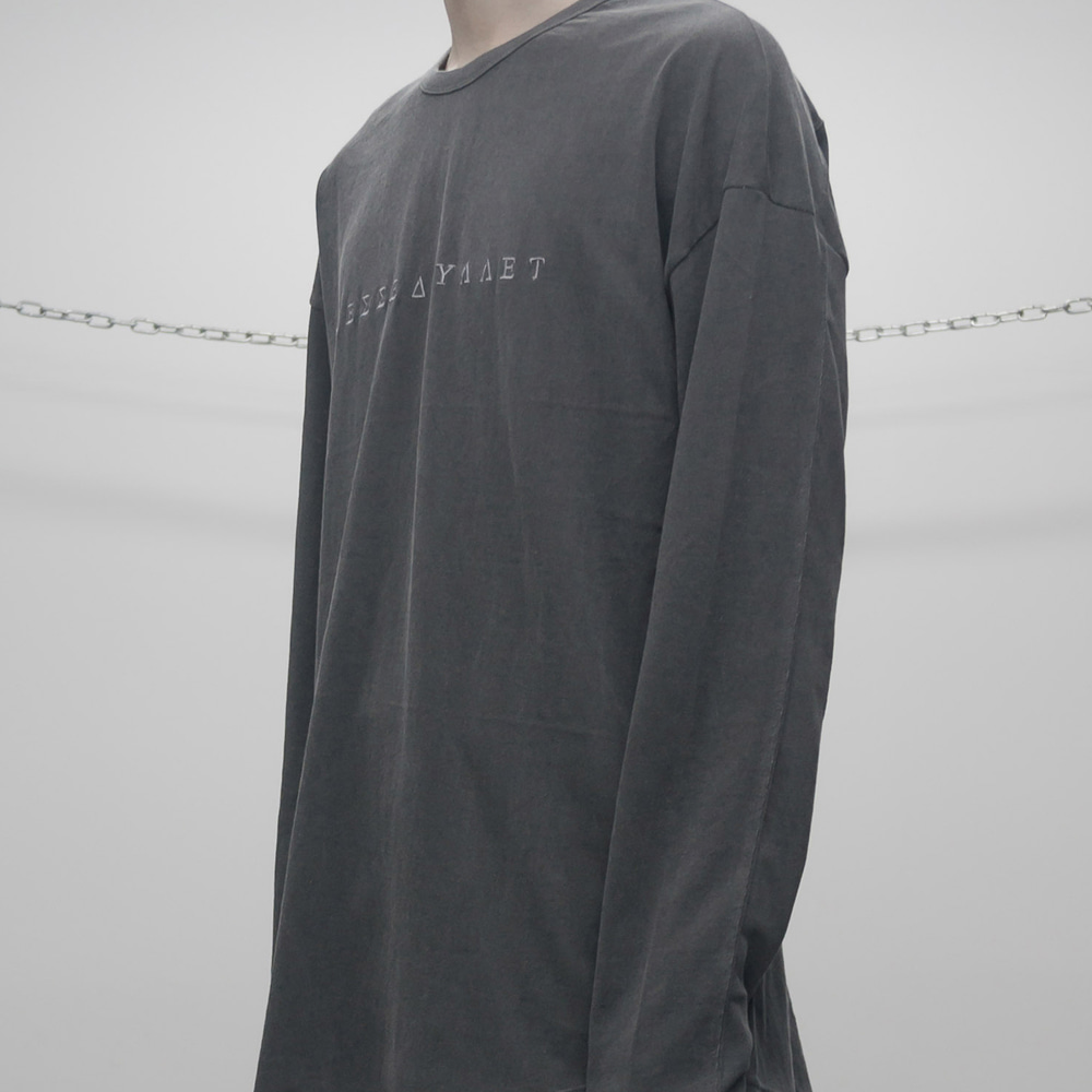 FADED LONG SLEEVE (DARK GREY)