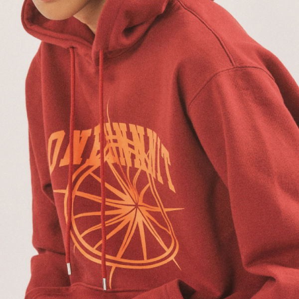 17 AW ARCH LOGO SWEAT HOODIE (RED WINE)