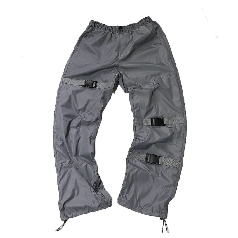 STRAP WINDRUNER PANTS GREY