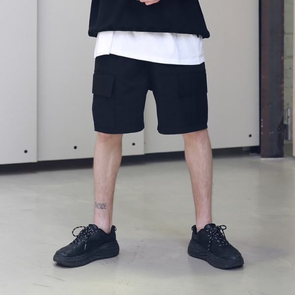 EASY CARGO SHORT PANTS MSNSP002-BK