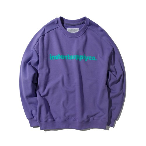 ISC BASIC LOGO CREWNECK PURPLE