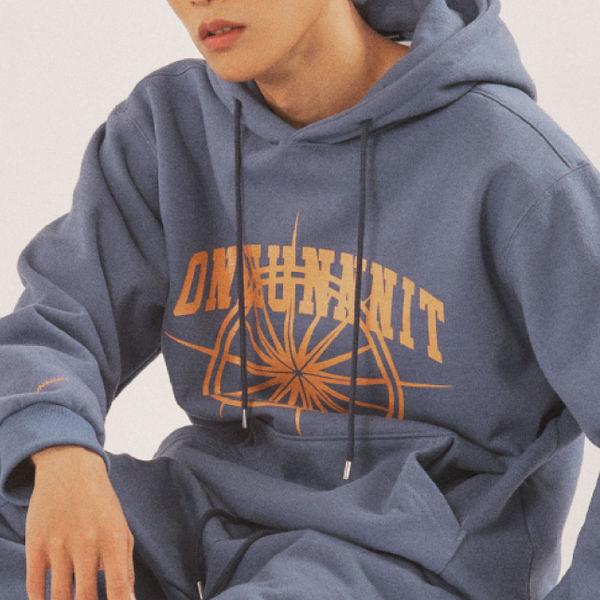17 AW ARCH LOGO SWEAT HOODIE (MIDNIGHT BLUE)