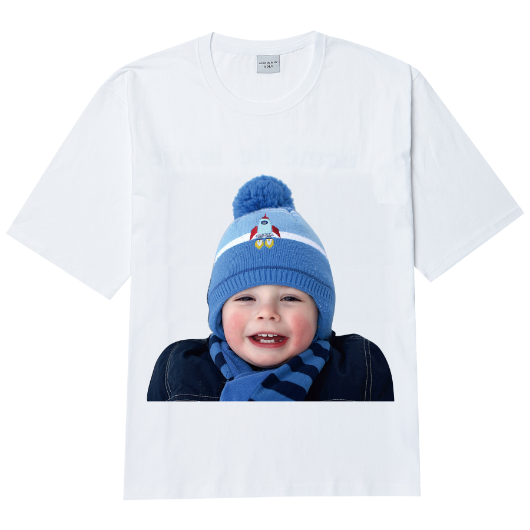 ADLV BABY FACE SHORT SLEEVE T-SHIRT WHITE MUFFLER