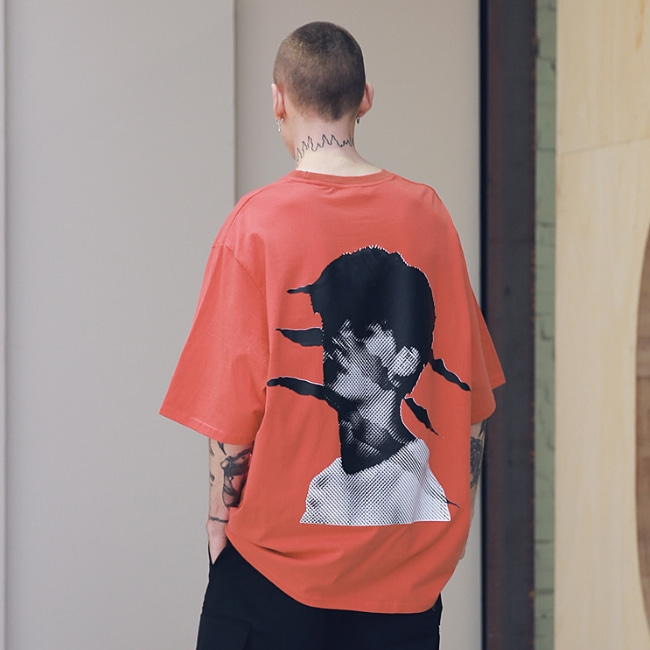 SCRATCH OVERSIZED T-SHIRTS MSNTS002-CR