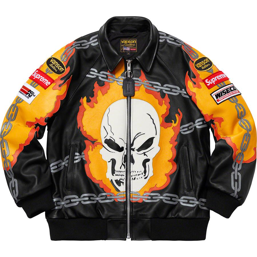 SUPREME X VANSON LEATHER GHOST RIDER JACKET