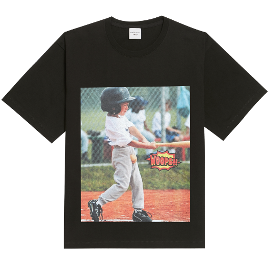 ADLV WOOPS BASEBALL SHORT SLEEVE BLACK