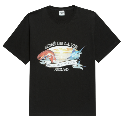 ADLV FISHING CLUB SHORT SLEEVE BLACK
