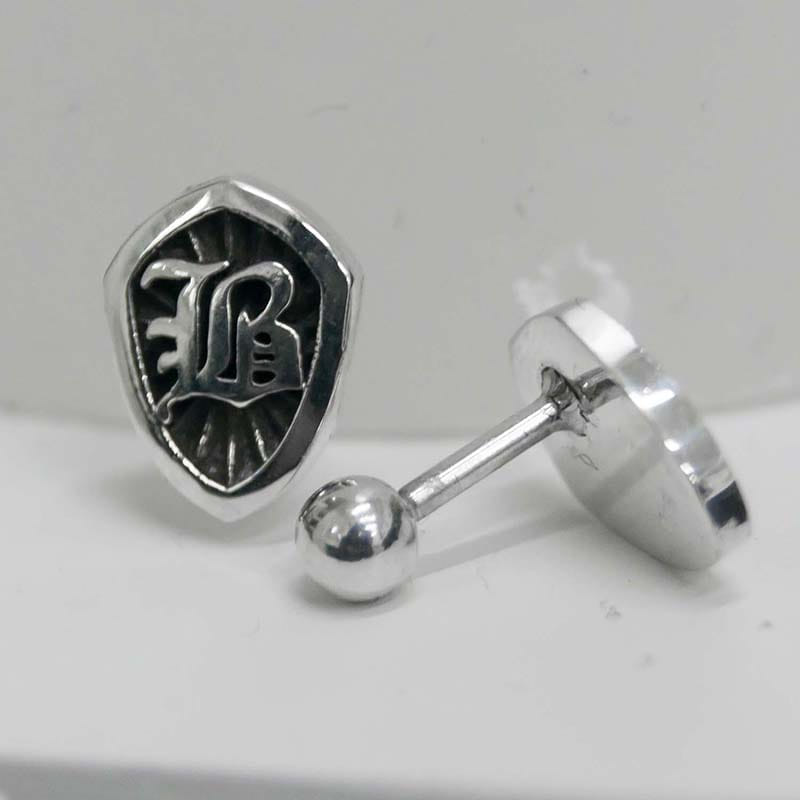 B SHIELD PIERCING SET (SILVER 925)