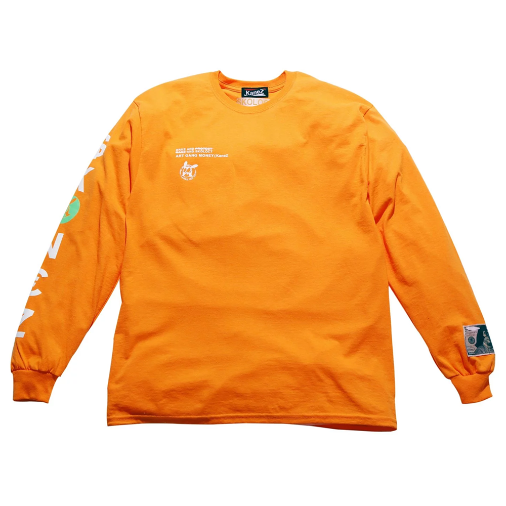 KANEZ×SKOLOCT SKOJAMIN LONG SLEEVE (ORANGE)