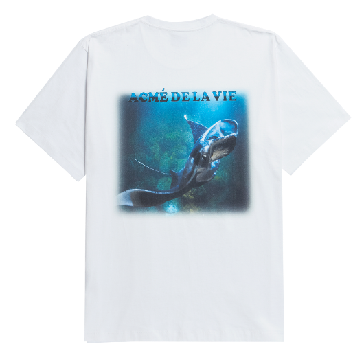 ADLV DIGITAL PRINTING SHORT SLEEVE T-SHIRT RAY ONE WHITE