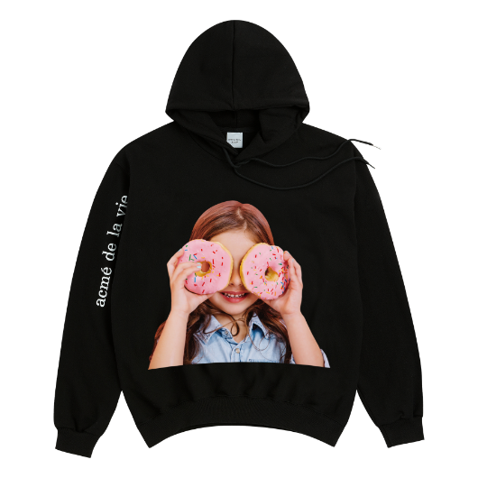 ADLV BABY FACE HOODIE BLACK DONUT 3